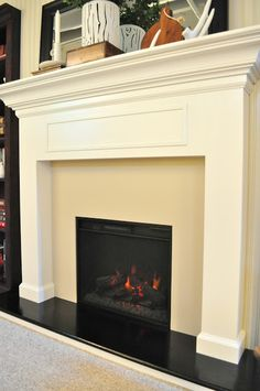 Step by Step tutorial traditional fireplace mantle