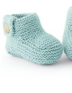 Modèle chaussons vert Super Baby