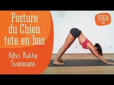 Delphine Bourdet, vous apprend à réaliser la posture du Chien tête en bas en Yoga (Adho Mukha Svanasana). C'est un très bon étirement de la colonne vertébrale, des ischio-jambiers et des épaules