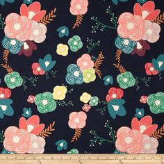 Art Gallery Happy Home  Table Flowers Cheer from @fabricdotcom  Designed by Sew Caroline for Art Gallery, this cotton print fabric is perfect for quilting, apparel and home decor accents. Art Gallery Fabric features 200 thread count of finely woven cotton. Colors include