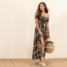 Long floral dress #MYSbasic
