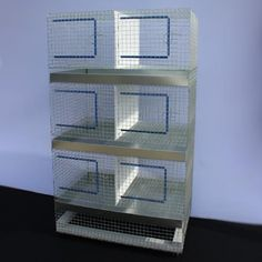 """BR1113 Rabbit Breeding 6 Unit Divided - 24"""" x 36"""" x 60"""" High 