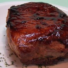 Pork Chops w/ ginger, brown sugar, soy sauce, garlic