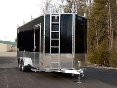 Our aluminum contractor trailer is the perfect alternative to box trucks. Built on fully welded, heavy duty, all aluminum frames our trailers will be Work Trailer, Cargo Trailer Camper, Trailer Plans, Utility Trailer, Trailer Diy, Trailer Build, Trailer Shelving, Trailer Storage, Tool Storage