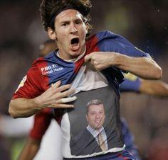Tony Burris, L.Ac. of Eagle Acupuncture with Lionel Messi