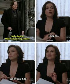 OUAT - Regina, Rumple and Making People Cry. And her face in the last one ;)