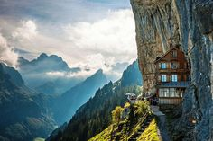 Äscher Cliff/スイス