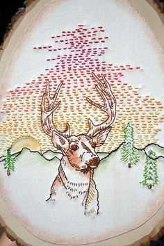 Deer embroidery