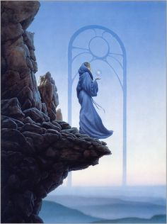 fantasy mage paintings Portal rocks sphere Magic