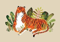 Illustration tigre de Jen Collins - $14.50