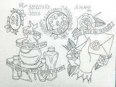 Hogwarts brief tattoo. Harry Potter Words, Harry Potter Sketch, Arte Do Harry Potter, Harry Potter Drawings, Stone Tattoo, 4 Tattoo, Back Tattoo, Tattoo Quotes, Tattoo Small
