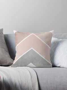 Glam Chevrons in Pink and Grey • Also buy this artwork on home decor, apparel, stickers, and more.