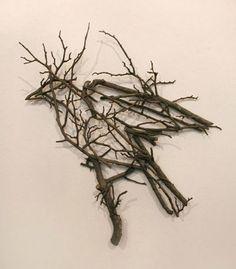 Twig Wall Art garden twig sign. thecraftyhome.tripod | tree branch furniture