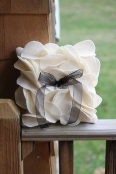 Petal Ring Bearer Pillow by thePinUpShop on Etsy Ring Pillow Wedding, Wedding Ring Box, Our Wedding, Dream Wedding, Wedding Night, Wedding Bride, Ring Bearer Pillows, Ring Pillows, Felt Pillow