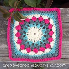 Join me for a new crochet a block series in this free crochet along - Crochet A Block Afghan 2017! One block a week for 8 months.