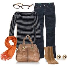 """""""Wearing 11/09/2010"""" by busymominny on Polyvore Minus the boots and glasses because I can't wear them :)"""