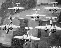 Douglas A-20 Havoc formation.