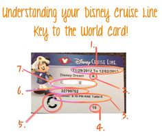 Understanding your Disney Cruise Line Key to the World Card  #disney #disneycruise #disneycruiseline