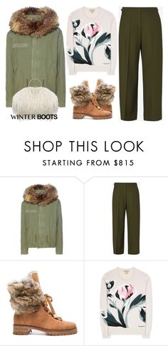 """""""Cozy, cute and functional winter boots!"""" by mcheffer ❤ liked on Polyvore featuring Mr & Mrs Italy, Maison Margiela, Alexandre Birman, Burberry and winterboots"""