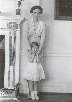 Princess Olga of Yugoslavia and her daughter, Elizabeth.