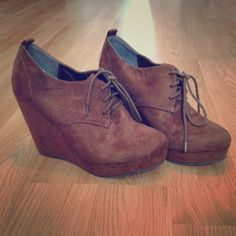 57% off Forever 21 Shoes - Closed-Toe Brown Wedge from Kristin's ...