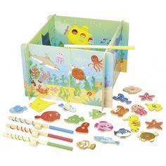 Vahva kalapüügimäng. Magnetitega. Mõõdud: 32 x 32 x 21 cm. Sobilik alates 3+ eluaastast. Sisaldab väikeseid osi. Lämbumisoht!