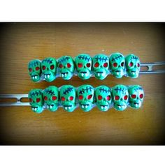 Zombie Vampire Haunted Hair Candy Clips