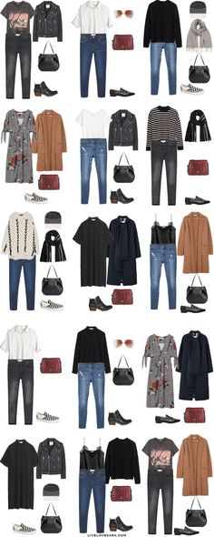 14 Days in Edinburgh, Scotland. Packing Light List. Outfit Options 16-30. Fall Travel Capsule Wardrobe 2017