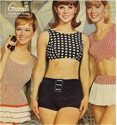 Grant's swimwear, 1965...so now!!...or maybe it is so then. I love all of these, they are so cute!