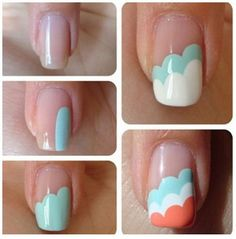 simple sky nail art tutorials | 1-in.su
