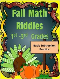 Who doesn't love solving riddles? Your students will love the fall themed subtraction riddles!