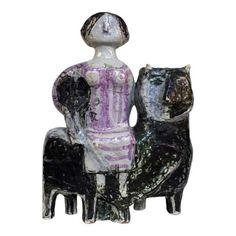 Finn Carlsen ceramic sculptural figure