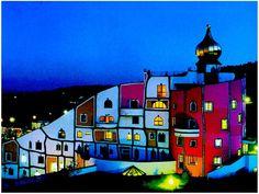 Rogner Bad Blumau Spa Hote (Styria, Austria) designed by Friedensreich Hundertwasser Unusual Buildings, Colourful Buildings, Interesting Buildings, Amazing Buildings, Art Et Architecture, Amazing Architecture, Architecture Details, Friedensreich Hundertwasser, Architecture Organique