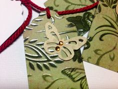 Gift Tags Green Butterfly with gems and by MomentsYouCelebrate, $6.00