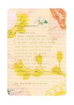 Daydream List 8x10 print by thewheatfield on Etsy, $18.00