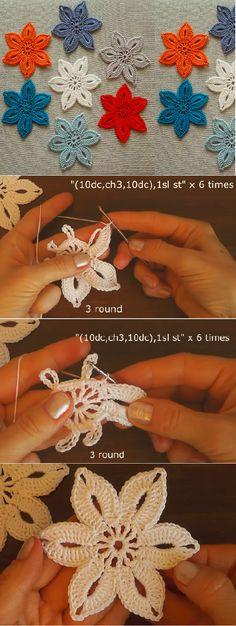 Crochet Easy and Fast Flower Step by Step Tutorial