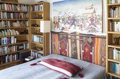 bedroom shelves Shelves In Bedroom, Bookcase, Interiors, Furniture, Design, Home Decor, Homemade Home Decor, Book Shelves, Interior