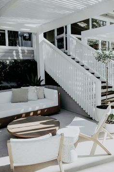 Ivy Road Photography | Poolside styling at Fig Tree feat. our new White Lounge Chairs and Terrazzo Stools