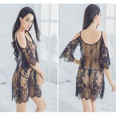 Nightwear dresses creates a beautiful and attractive look or an innocent but naughty look that cannot just add an ageless Trendy Clothes For Women, Trendy Outfits, Nighty Online Shopping, Sexy Dresses, Summer Dresses, Nightgowns For Women, Lace Kimono, Lace Slip, Woman Beach