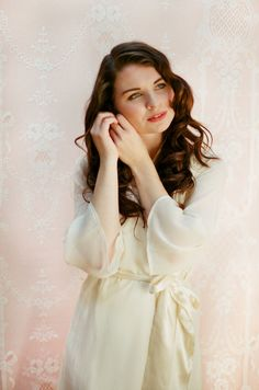 Items similar to One Custom bridal robe in lined chiffon. Chiffon robe. Chiffon  dressing gown. Ivory bridal robe. Minimalist Long bridal robe. on Etsy 9fcd8e5b3