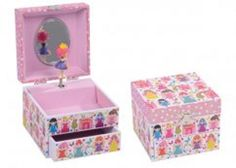 Musical Jewellery Box - Fairy Palace Glittered design! - Children s gift