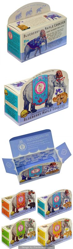 Cookie #packaging inspired by vintage circus design.