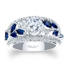 Wowza. Barkev's Blue Sapphire Engagement Ring 7984LBSW