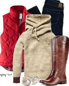 Cozy winter outfit Riding boots are a must before fall!
