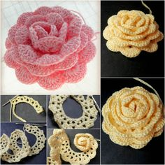 Crochet Lovers Rose