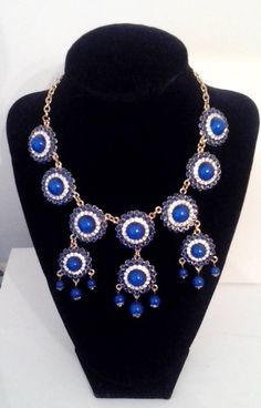 ON SALE NOW https://www.etsy.com/listing/201641674/a-gorgeous-pastel-blue-bib-necklace
