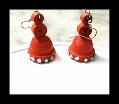 Jhumkas with kundans ... Rs 50/-