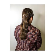 Brunette. clips. Waves. Long Hair. 90s Accessories, Waves, Plaid, Long Hair Styles, Shirts, Tops, Fashion, Gingham, Moda