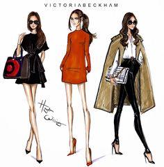 Hayden Williams Fashion Illustrations: Happy Birthday Victoria Beckham - by Hayden Williams