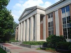University of Georgia (UGA) Main Library is located on North Campus. 320 S. Jackson St. Athens, GA 30602 706-542-3251 [photo by Chuck from San Francisco, CA via Wikimedia Commons]